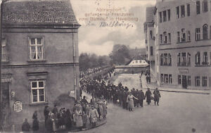 WWI FRANCE FRENCH POW S LEAVING TRAIN IN GERMANY HAYELBERG 1915 POSTALLY USED