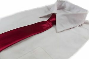 CHEAP-DARK-RED-TIE-Boys-Kids-Baby-Toddler-School-Ties-FORMAL-WEDDING-SALE