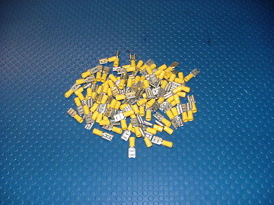 20 x Yellow 9.5mm Female Spade Insulated Crimp Terminal ALTERNATOR TERMINALS
