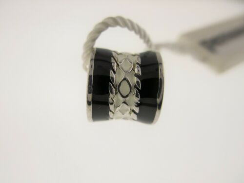 """PERSONA Sterling Silver /""""Noir /& Blanc Bombay/"""" Bead Charme H11976P1-04"""