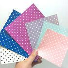 Polka Dot Fine Glitter Fabric SHEET - 25cm x 30cm - High Quality- EN71 Certified