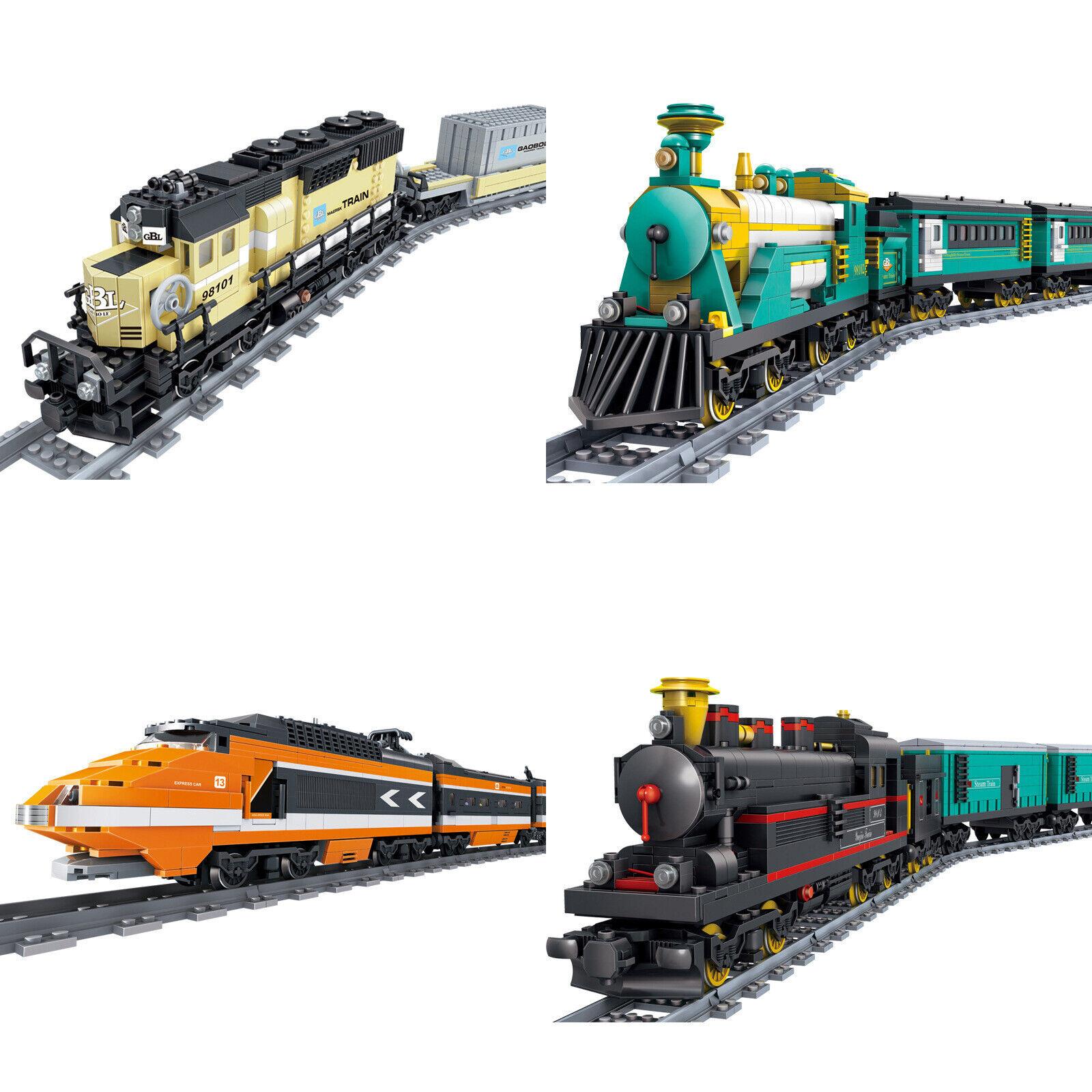 Large Battery Operated Train Railway Track Building Bricks Construction Blocks