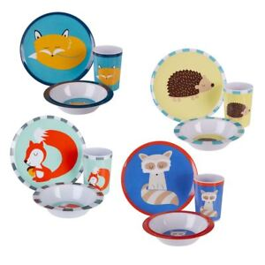 Image is loading Mimo-Kids-Dinner-Set-3-Piece-Scratch-resistant-  sc 1 st  eBay & Mimo Kids Dinner Set 3 Piece Scratch-resistant Plastic Plate Bowl ...