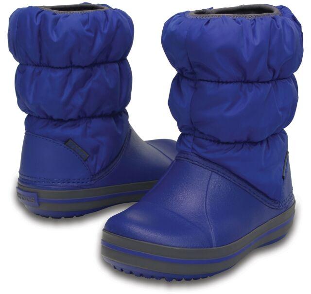 Crocs Boys Winter Puff BOOTS Navy Blue