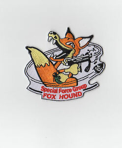 Image Is Loading Metal Gear Foxhound Patch Iron On Retro Solid