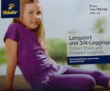 NEU TCM Tchibo Longshirt & 3/4 Leggings Mädchen Caprihose & Shirt  Set 122/128