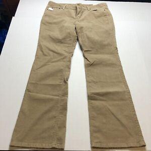 Loft-Modern-Boot-Tan-Corduroy-Pants-Size-16-New-A929