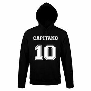 FELPA-CAPITANO-10-Divertente-Sweatshirt-Hoodie-Urban-Cotone-Cappuccio-Calcio-vip
