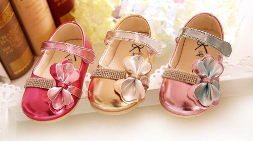 NEU Baby Mädchen funkelnden Party-schuhe in Gold Pink Pink 3 6 9 12 15 Months