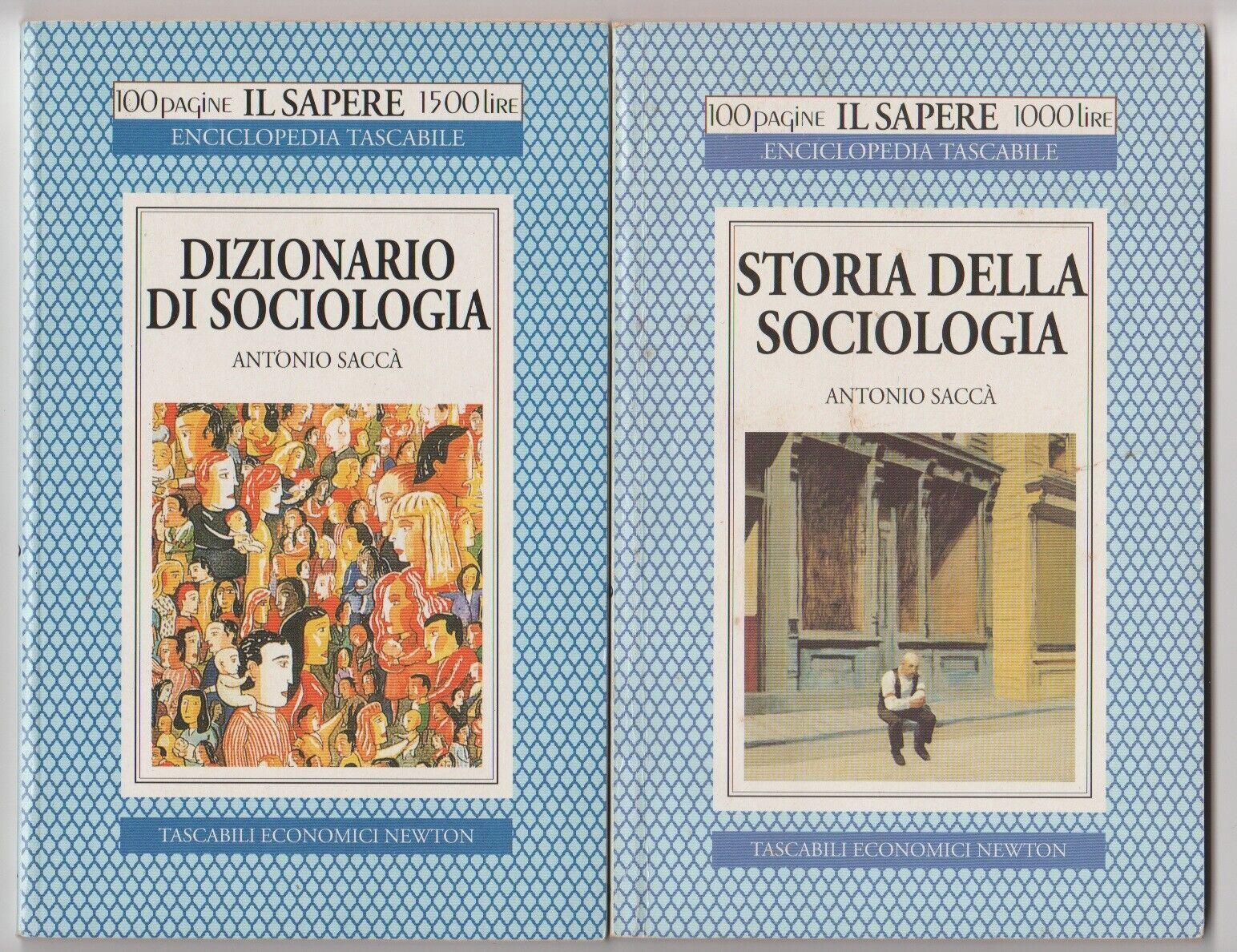 Dizionario di sociologia + Storia della sociologia