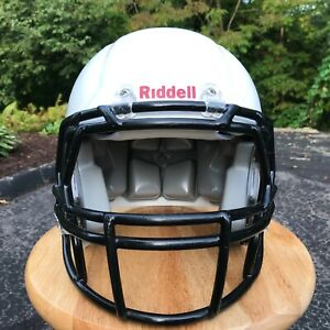 RIDDELL-Youth-Football-Helmet-Medium-White-Black-Recertified-2019