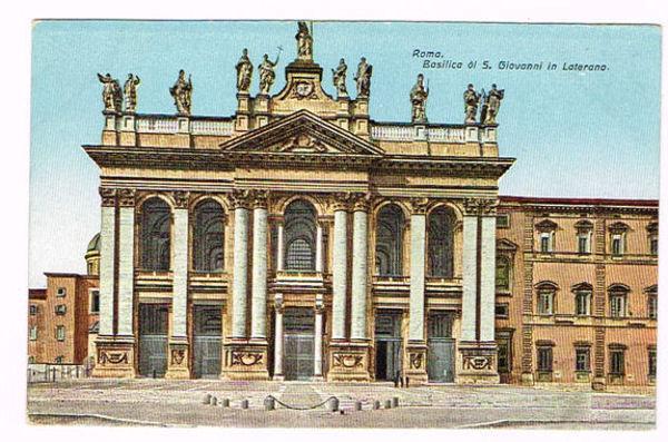 Vintage Postcard Italy 1900 ca. ROMA Rome BASILICA DI S ...