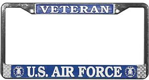 US-AIR-FORCE-VETERAN-METAL-LICENSE-PLATE-FRAME-MADE-IN-THE-USA