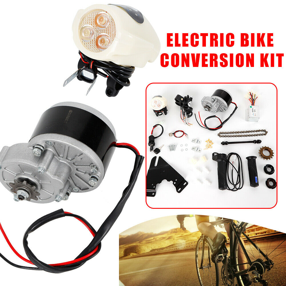24V or 36V 250W Electric Bike E-Bike Conversion Kit Fit for 22-29  Bike 3300 rpm
