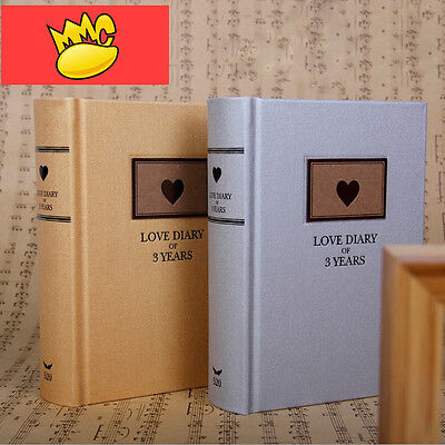 """Love Diary"" 1pc Luxury Hard Cover Lined Notebook Diary For 3 Years Memo Journal"