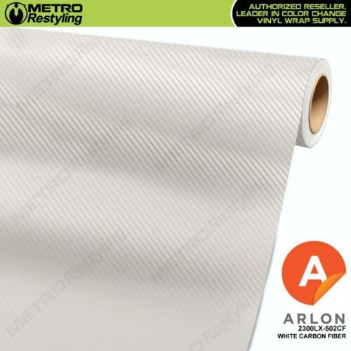 ARLON WHITE CARBON FIBER Restyling Vinyl Vehicle Car Wrap Film Roll 2300LX-502CF