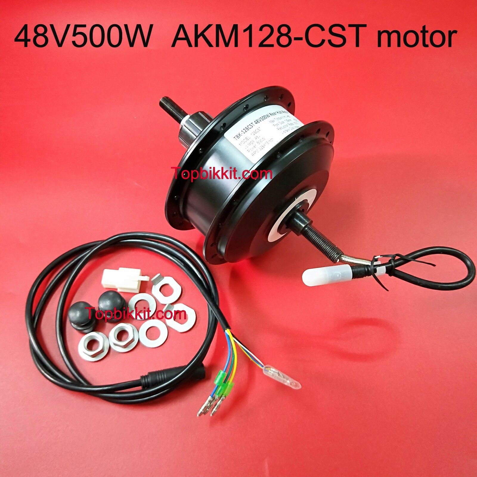 AKM Q128 48V 500W CST Gear Hub Motor for Ebike 135mm RPM-201 or 328 Rear Motor