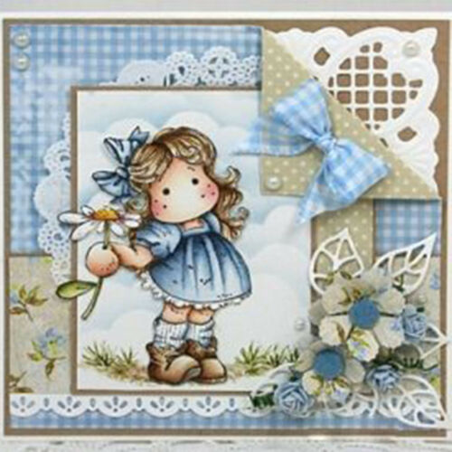 New Lovely Girl Clear Transparent Stamps Cutting Dies Stencils Album Decorative