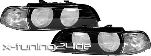 BMW 5er E39 11.95-08.00 STREUSCHEIBEN LICHTSCHEIBEN BLINKER WEISS 085 084