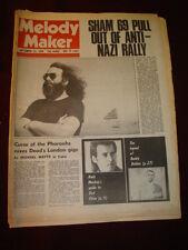 MELODY MAKER 1978 SEPT 23 SHAM 69 GRATEFUL DEAD ANDY MACKAY GODLEY & CREME