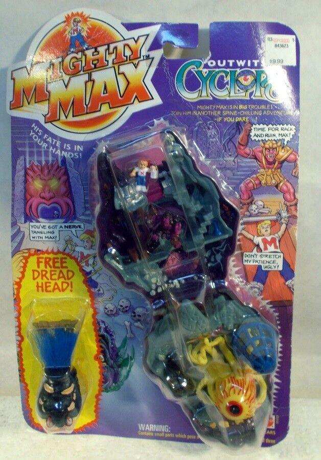 Mighty Max-Doom Zones  outwits Cyclops  Jugarset con temible cabeza Garrojoid (menta en tarjeta)
