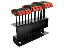 10pc T Handle Hex Allen Key Set Wrench Metric Allan Bit Stand Bits Keys 2-10mm