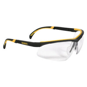 Dewalt DPG55-11C Clear Anti-Fog Protective Safety Glasses Rubber Frame/ Temples