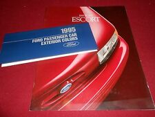1995 FORD ESCORT GT LX SALES CATALOG plus 95 FORD PAINT COLOR CHIPS BROCHURE