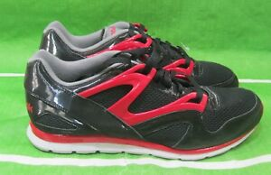 new-Reebok-Omni-Run-black-excellent-red-grey-steel-V43743-Size-10-5
