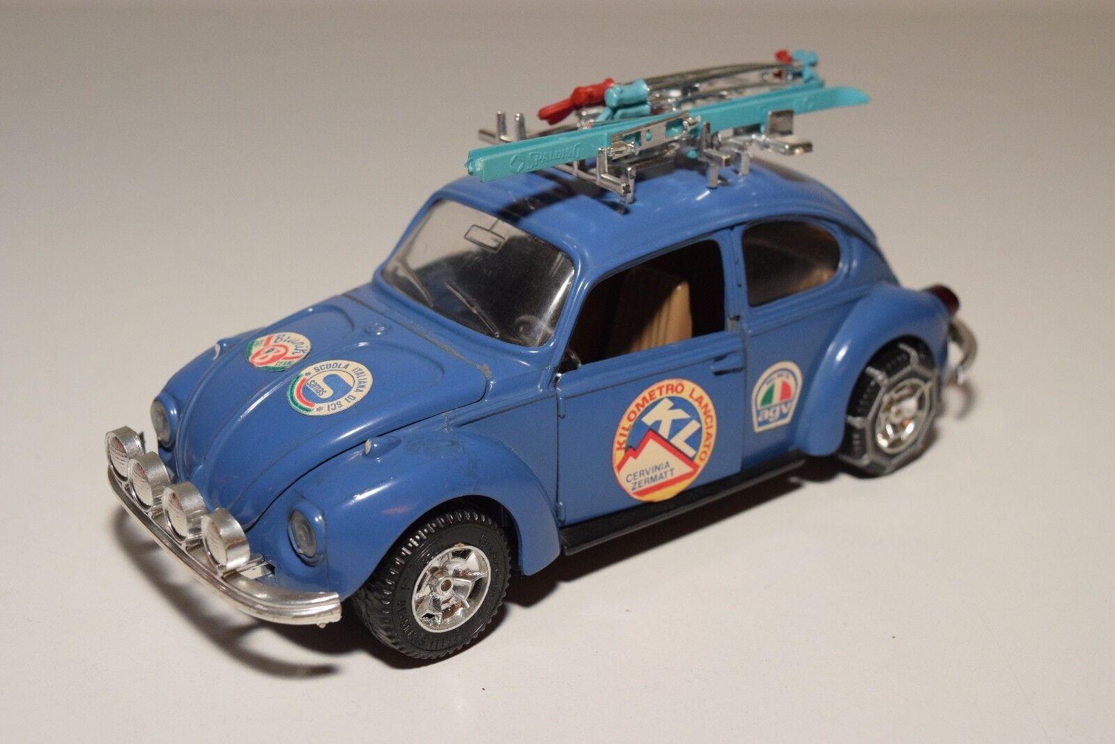 K MEBETOYS 8615 VW VOLKSWAGEN BEETLE KAFER CON SKI blu NEAR MINT CONDITION RARE