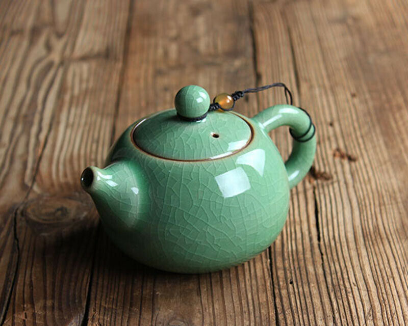 Tian Qing Ru Kiln XiShi Style Celadon Teapot 160ml 5.6oz