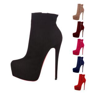 Onlymaker-Women-Round-Toe-Platform-High-Heel-Ankle-Boots-Side-Zip-Booties-Big-Sz