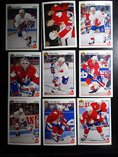 1991-92 Upper Deck UD Team Canada Team Set of 8 Hockey Cards