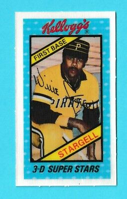 1980 Kelloggs 3 D Superstars Willie Stargell Pittsburgh Pirates 25 Kcr Ebay