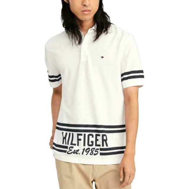 Tommy Hilfiger Archives Mens Polo Shirt Size XL Classic Fit White Cotton