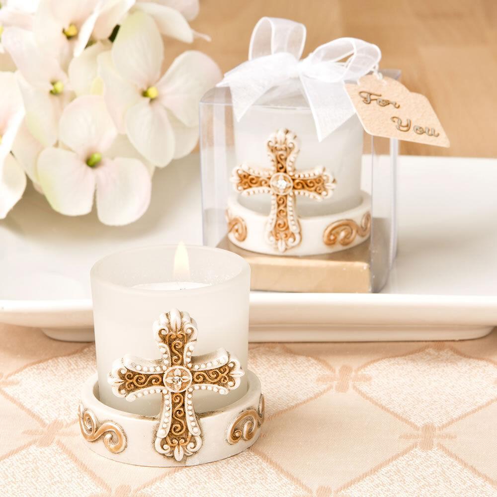 40 Vintage Croix Bougie mariage faveur baptême communion baptême Faveurs