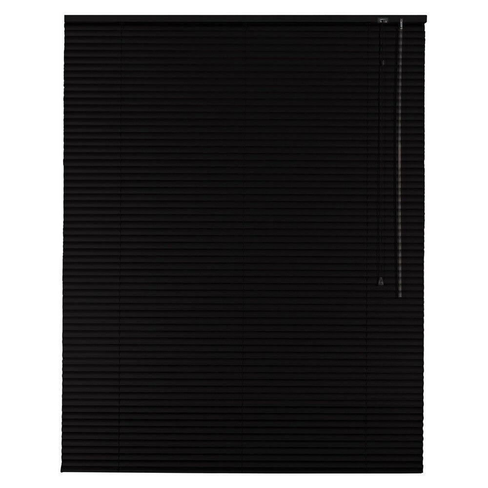 Aluminium Jalousie Alu Jalousette Jalusie Fenster Rollo - Höhe 150 cm schwarz