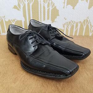 b823fe55d5a Details about Men's Steve Madden M-Tell Black Lace Up Oxford Chisel Toe  Dress Shoes 8 M BLACK