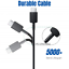 miniature 3 - Lots of 10 USB C Type C Cable For Samsung S20 S10 Charger LG Charging Cord Bulk