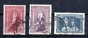 Australia-1937-49-Robes-good-used-set-176-178-WS15389