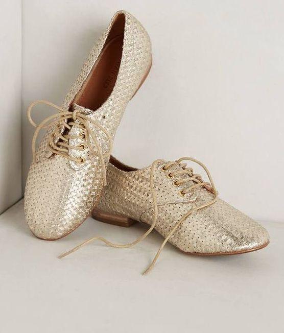 Nouvelle Anthropologie Rowan Reed Newbury Tissé Derbies Flats Chaussures Taille 6.5