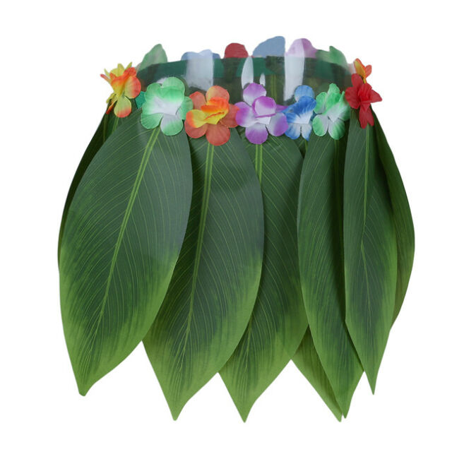 Ladies Sexy Hawaiian Hula Girl Grass Leaf Skirt Fancy Dress Costume Outfit BS