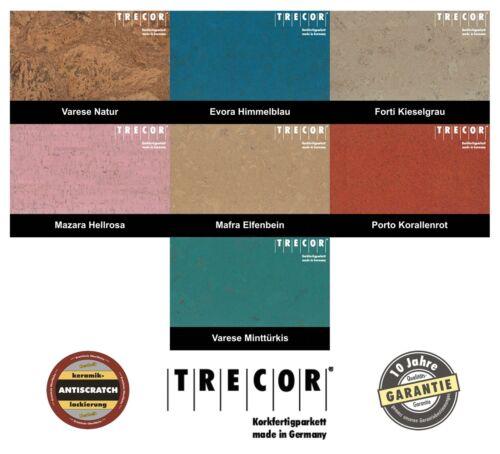 Korkboden TRECOR Korkfertigparkett 1 m² - Wählen Sie aus 7 Dekoren u. 24 Farben