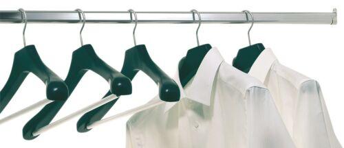 Kleiderstange Wandmontage 30x15mm Garderobenstange mit 2x Schrankrohrlager Stahl