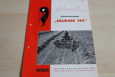 Rabewerk Schubrechwender Prospekt 11/1958 Diversified In Packaging Responsible 144205 Heurabe 282