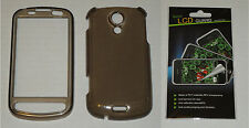 Grey / Smoke Hard Plastic Case & Screen Protector For Samsung Epic 4G D700