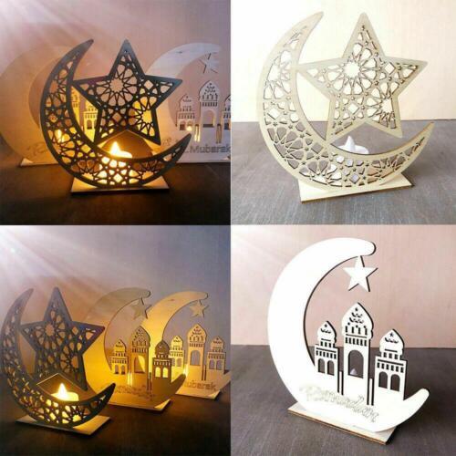 Ornamento De Madera Eid MUBARAK Ramadán musulmán islámico Colgante Regalo Decoración Colgante