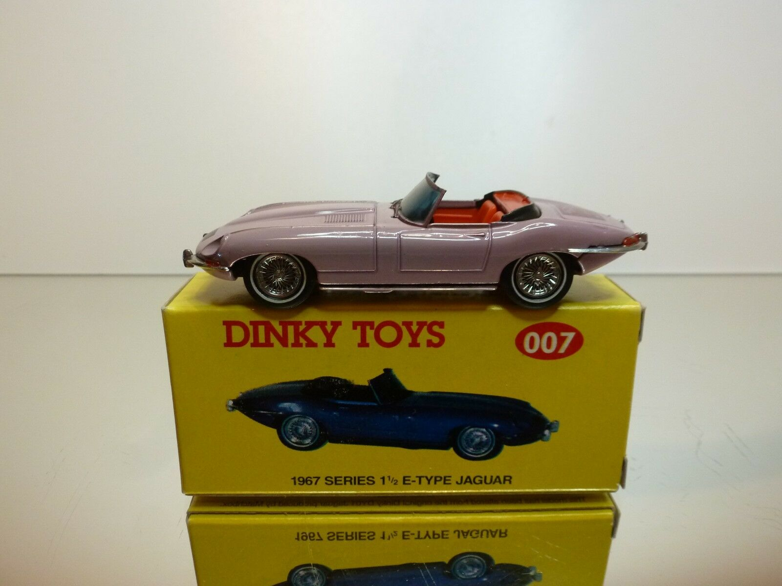 DINKY TOYS CODE 2 MODELS 007 - JAGUAR SERIES 1½ E-TYPE - 1 43 - EXCELLENT IB
