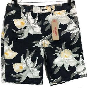 cc85f9a3 Image is loading Levis-Straight-Chino-Shorts-Floral-Hawaiian-Summer-mens-