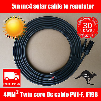 Female To Join To Your Regulator Pleasant To The Palate 5m Solar Cable 4mm Twin Core Dc Mc4 Male